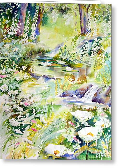 Greeting Card featuring the painting Echo Of Spring by John Nussbaum