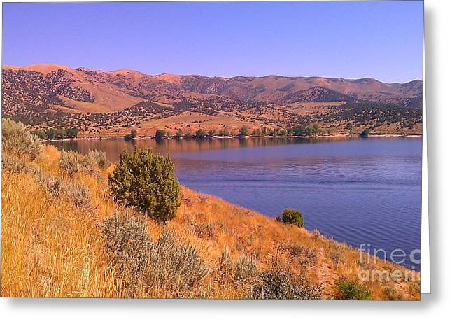 Greeting Card featuring the photograph Echo Reservoir Utah by Chris Tarpening