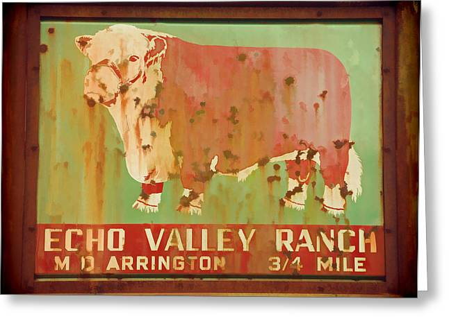 Echo Valley Ranch Stylized Greeting Card