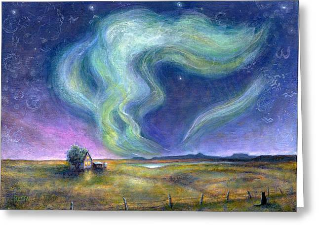 Echoes In The Sky Greeting Card