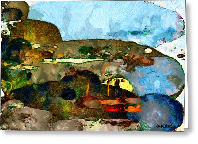 Greeting Card featuring the painting Eclectic by Wayne Pascall