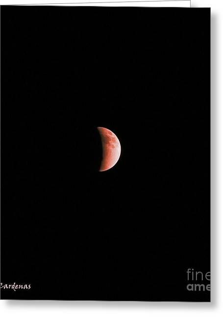 Eclipse 2 Greeting Card by Rebecca Christine Cardenas
