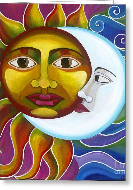 Greeting Card featuring the painting Eclipse by Carla Bank