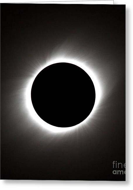 Eclipse Of The Century Greeting Card by Babak Tafreshi
