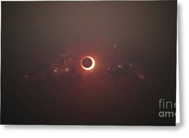 Eclipse Of The Sun In Nearby Solar Greeting Card by Tomasz Dabrowski