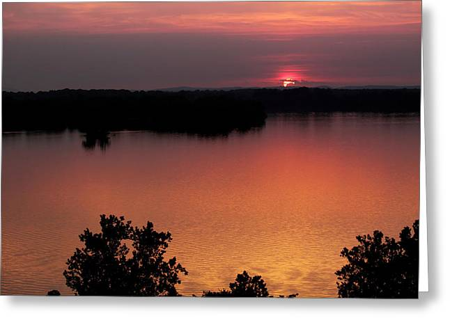 Greeting Card featuring the photograph Eclipse Of The Sunset by Jason Politte