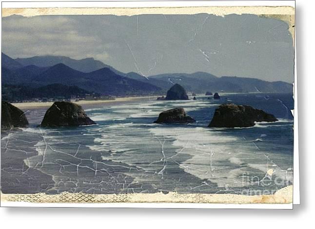Ecola Sea Stacks Greeting Card