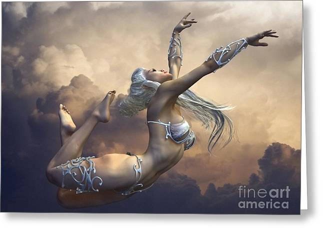 Ecstasy Greeting Card by Sandra Bauser Digital Art
