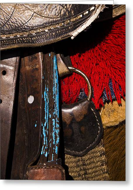 Ecuador Saddle Greeting Card by Chad Simcox