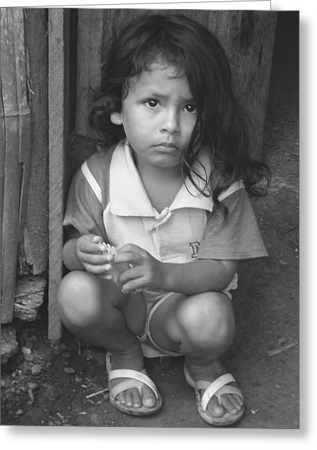 Greeting Card featuring the photograph Ecuadorian Girl by Paul Miller