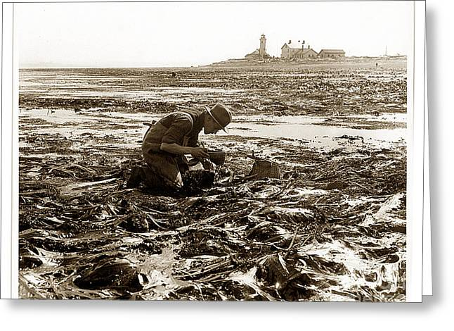 Ed Ricketts At Point Wilson Lighthouse In Port Townsend Wa July 1930 Greeting Card