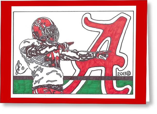 Eddie Lacy 1 Greeting Card by Jeremiah Colley