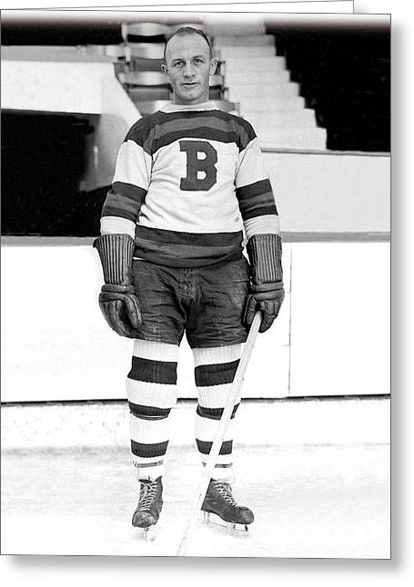 Eddie Shore Hockey Legend Greeting Card