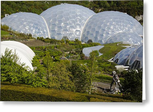 Eden Project Domes Cornwall England Greeting Card by Alvin Telser