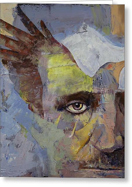 Poe Greeting Card by Michael Creese