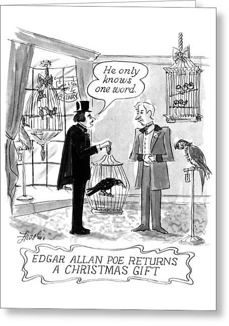 Edgar Allan Poe Returns A Christmas Gift Greeting Card