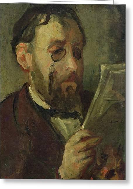 Edgar Degas 1834-1917 Oil On Canvas Greeting Card by Marcellin Gilbert Desboutin
