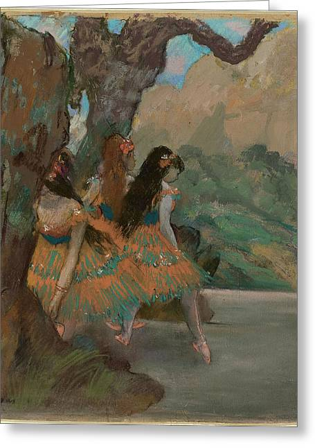 Edgar Degas French, 1834 - 1917, Ballet Dancers Greeting Card