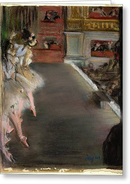 Edgar Degas French, 1834 - 1917, Dancers At The Old Opera Greeting Card