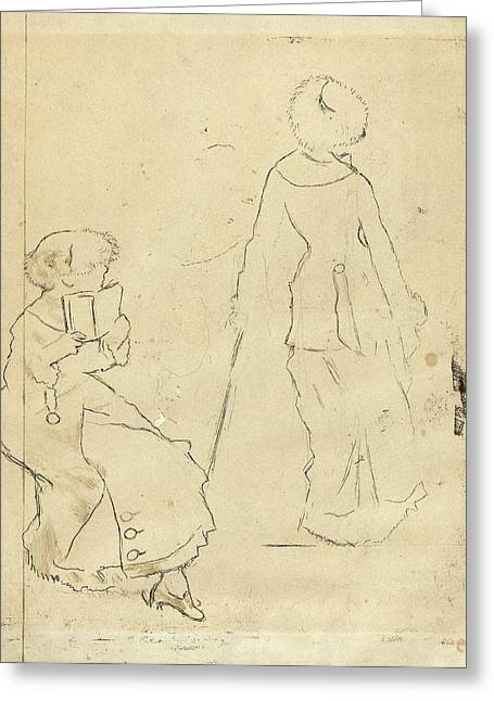 Edgar Degas French, 1834 - 1917, Study For Mary Cassatt Greeting Card by Quint Lox
