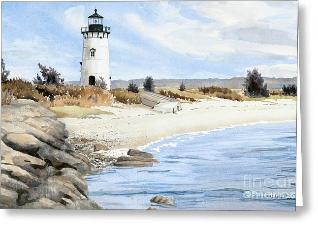 Edgartown Light - Marthas Vineyard Greeting Card