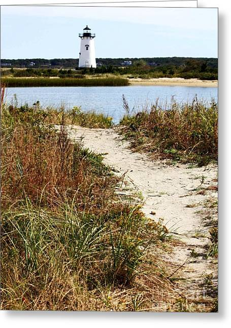 Edgartown Lighthouse Greeting Card by Carol Groenen