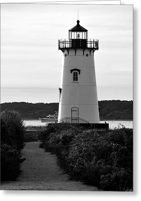 Edgartown Lighthouse Greeting Card by David Champigny