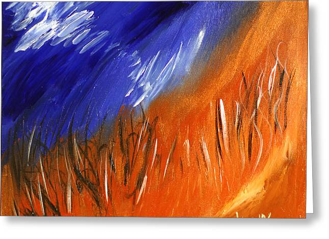 Edge Of Autumn Greeting Card by Donna Blackhall