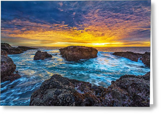 Edge Of North America Greeting Card by Robert Bynum