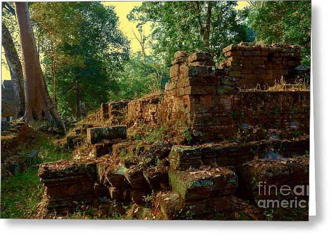 Edge Of Ruin Greeting Card by Julian Cook