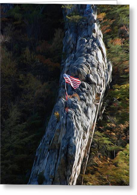 Greeting Card featuring the digital art Edge Of The Ledge by Kelvin Booker