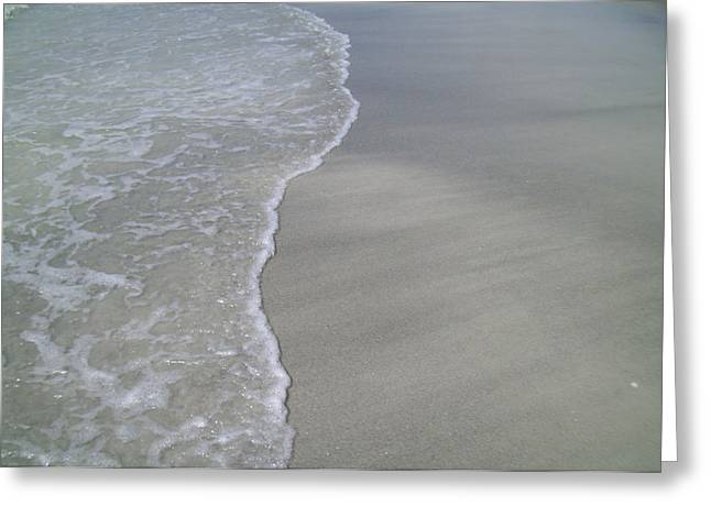 Greeting Card featuring the photograph Edge Of The Ocean by Ginny Schmidt