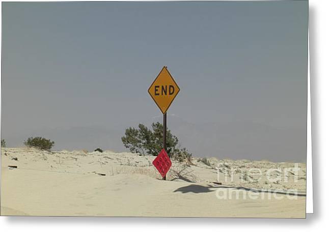 Edge Of The World Greeting Card by Deborah Smolinske