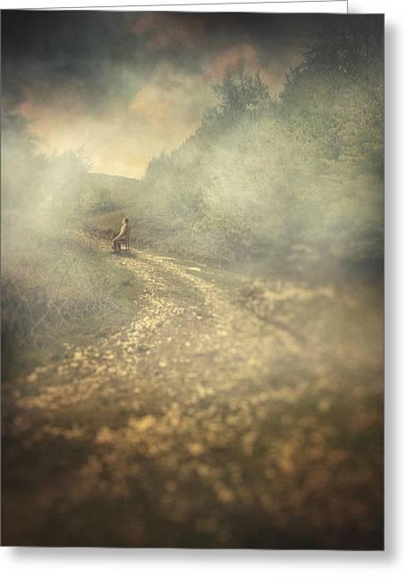 Edge Of The World Greeting Card by Taylan Apukovska
