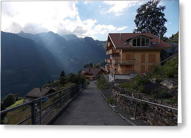 Edge Of Wengen Greeting Card by Nina Kindred