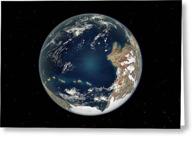 Ediacaran Earth Greeting Card by Walter Myers