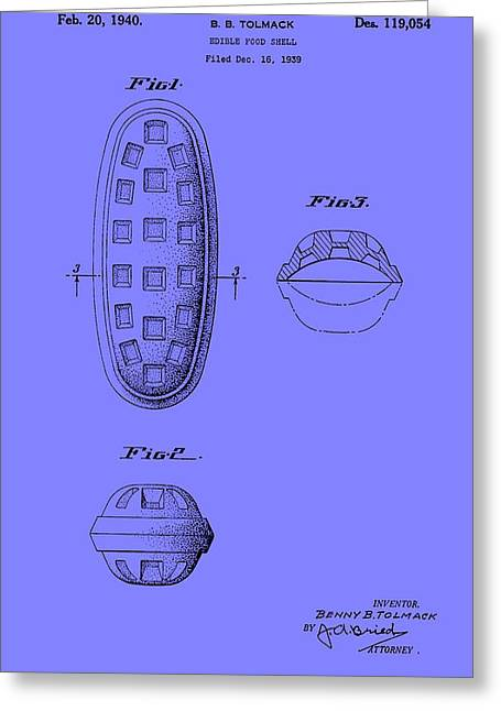 Edible Food Shell Patent 1940 Greeting Card