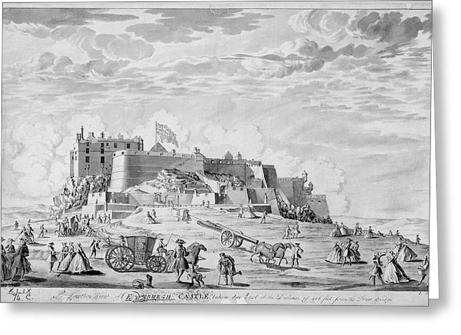 Edinburgh Castle Greeting Card by British Library