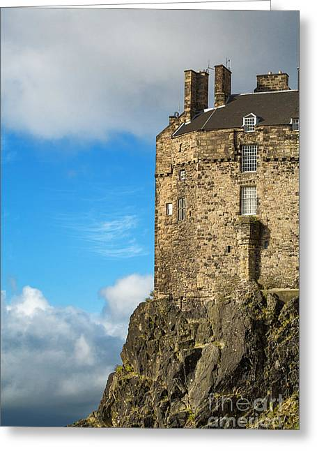 Edinburgh Castle Detail Greeting Card by Jane Rix