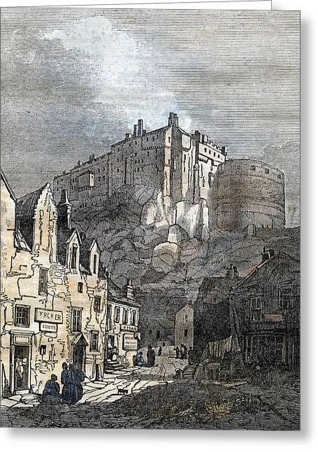 Edinburgh Castle Scotland 1833 Greeting Card by Scottish School