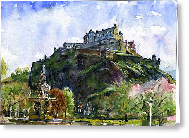 Edinburgh Castle Scotland Greeting Card