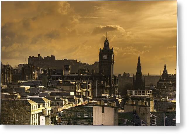 Edinburgh Dusk Greeting Card