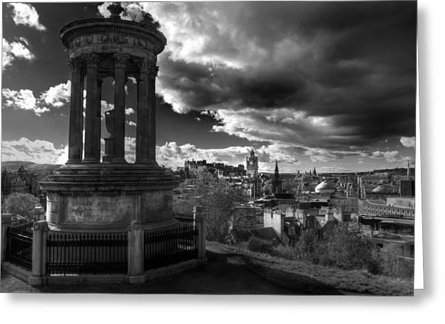 Edinburgh From Calton Hill Greeting Card