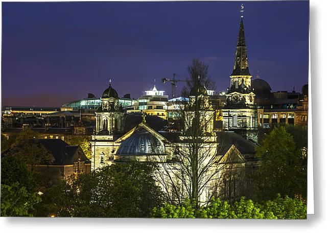 Edinburgh Night Greeting Card