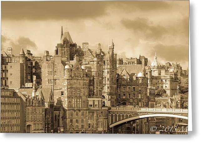 Edinburgh Nostalgia Greeting Card by Marie  Cardona