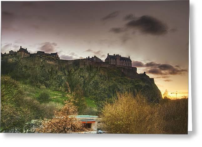 Edinburgh Rock Greeting Card