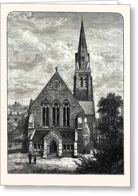 Edinburgh St. Jamess Episcopalian Church 1882 Leith Greeting Card by English School