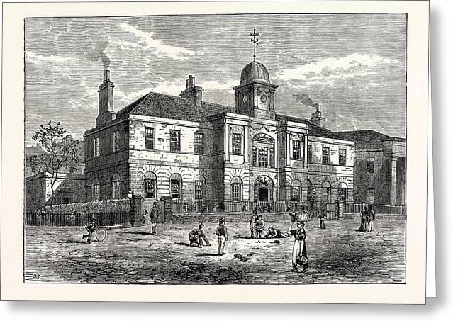 Edinburgh The High School Of Leith Built In 1806 Greeting Card