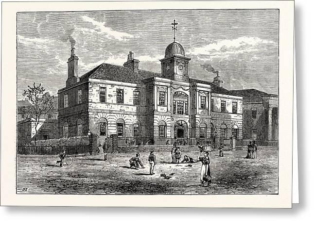 Edinburgh The High School Of Leith Built In 1806 Greeting Card by English School