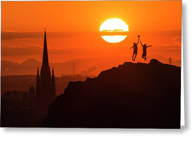 Edinburgh Tip Off Greeting Card